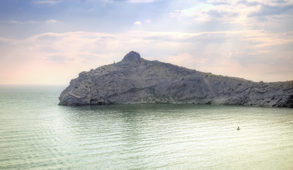 View on the cape of Kapchik from a mountain Koba-Kaya