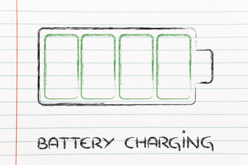 phone or electronical device battery charging design