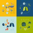 Zdjęcia na płótnie, fototapety, obrazy : Medical flat infographic