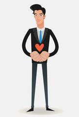 man illustration & love