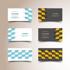 Taxi business card set