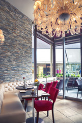 interior of Italian cafe