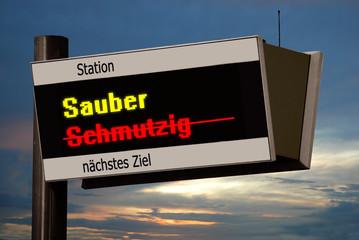 Anzeigetafel 4 - Sauber
