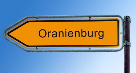 Strassenschild 7 - Oranienburg