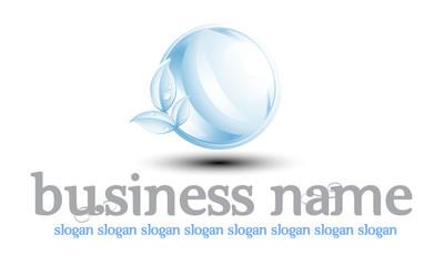 Logo bleu pâle