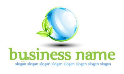 Logo eau et feuille