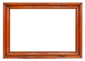 simple wide dark brown wooden picture frame