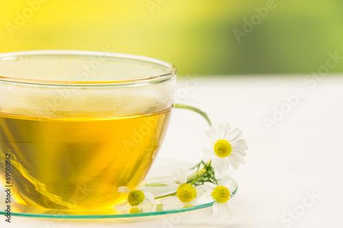 Leinwanddruck Bild gesunder tee