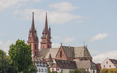 Basel, Altstadt, historisches Münster, Kirche, Rhein, Schweiz