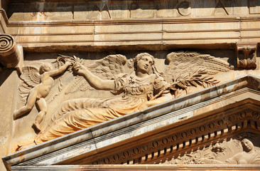 relieve, Palacio de Carlos V, Alhambra, Granada, España