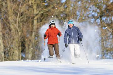 Spass beim Schneeschuhwandern