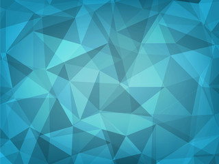 abstract background of dark green geometric polygon