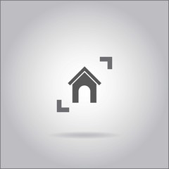 Illustration on grey background with shadow - House
