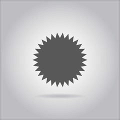 Illustration on grey background with shadow - Spikey Circle