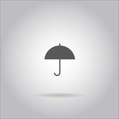 Illustration on grey background with shadow - Umbrella