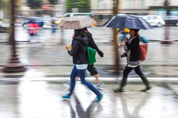 unterwegs bei Regenwetter