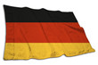 canvas print picture - Deutsche Flagge