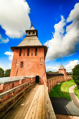 Kremlin towers in Veliky Novgorod