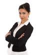 Attraktive Business Frau aus Indien - isoliert auf Weiß