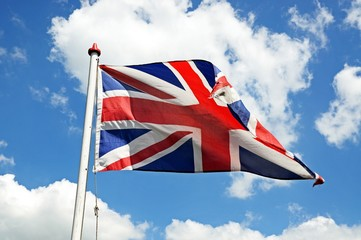 British Union Jack flag © Arena Photo UK