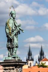 The Charles Bridge in Prague,Czech Republic
