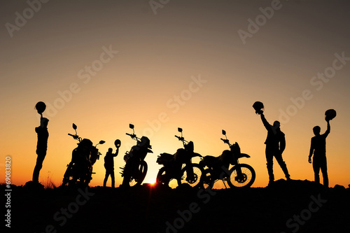 Deurstickers Fietsen motorsiklet takımı