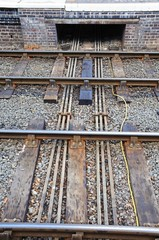 Point rods from railway signal box © Arena Photo UK
