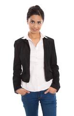 Asiatische Business Frau: Indische Frau isoliert