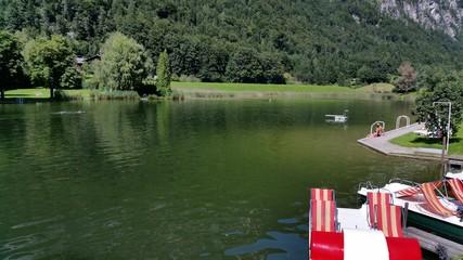 Grüner See im Sommer