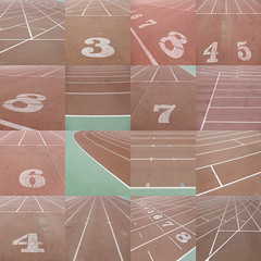Collage of running tracks