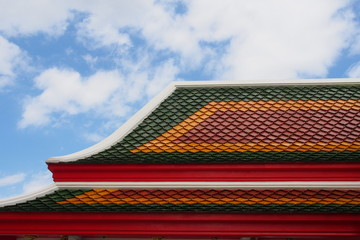 Typical Thai Temple Roof No.03
