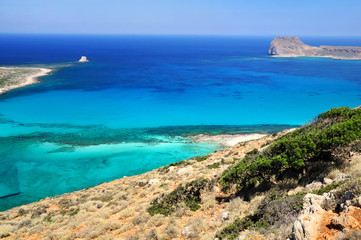 Gramvousa and Balos. Crete, Greece