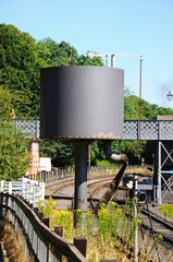 Water tower at the side of the railway line, Highley.