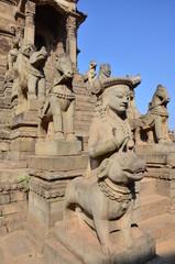 Statue of guarding in Bhaktapur Durbar Square