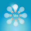 light bulb idea circle illustration design