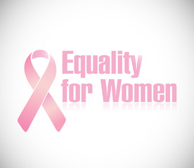 equality for women pink ribbon illustration design