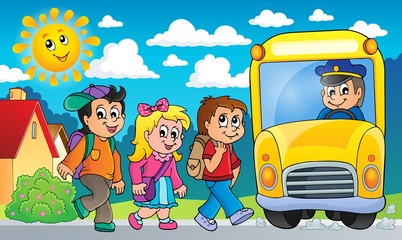 Image with school bus topic 2
