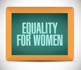 equality for women message illustration design
