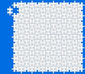 puzzle vierge sur fond bleu
