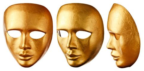 old Venetian mask isolated on  white