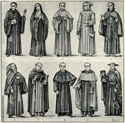 Monks:1,2OSB,3OCist,4O.Cart,5OFM,6OSFC,7OP,8OSA,9Carmel,10SJ - 69087643