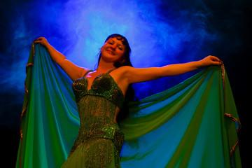 dancing woman in oriental costume