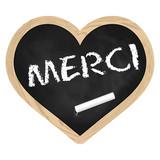 Herz Tafel Schiefer - Merci