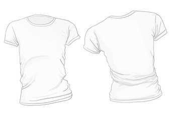 Women's White T-Shirt Template