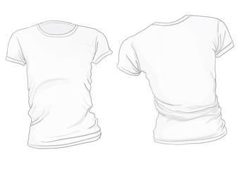 Women's White T-Shirt Template