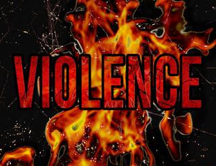 Violence Typography Grunge Style Illustration Design