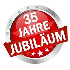 """Button mit Banner """" 35 JAHRE JUBILÄUM """""""