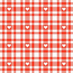 Herzen auf Karo Tischdecken Muster - endlos