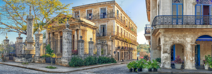 Colonial buildings in Old Havana