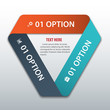 Modern business triangle origami style options banner. Vector il